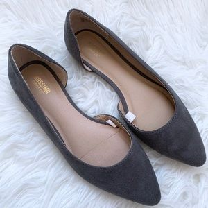 Mossimo Gray D'Orsay Pointed Toe Flats